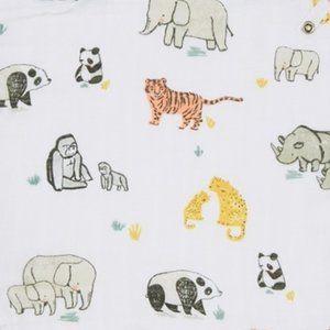 NWT Angel Dear Swaddle Blanket Bamboo Animals